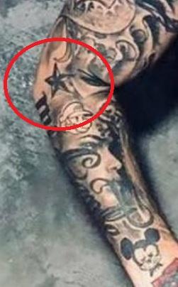 J Balvin Stars Tattoo