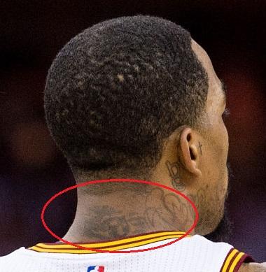 J.R Smith Back Neck Tattoo