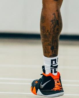 J.R Smith Left Leg City Tattoo