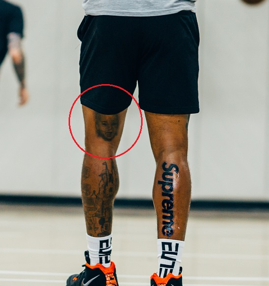 J.R Smith Left Leg Daughter Tattoo