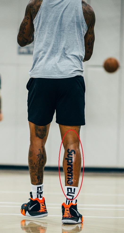 J.R Smith Right Leg Supreme Tattoo