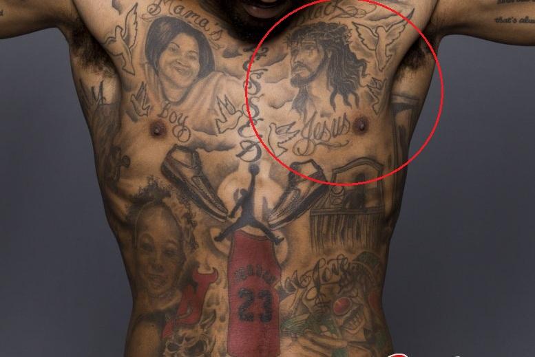 J.R. Smith Jesus Tattoo