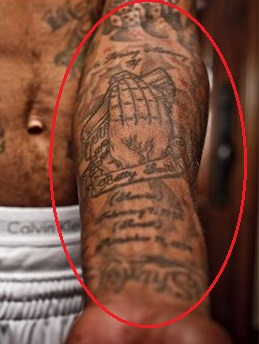 J.R. Smith Left Arm Inside Loving Memory Tattoo