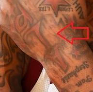 J.R. Smith Left Hand ALP Tattoo 2