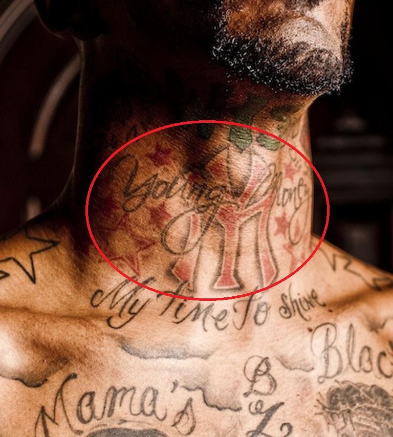 J.R. Smith Neck YN Tattoo