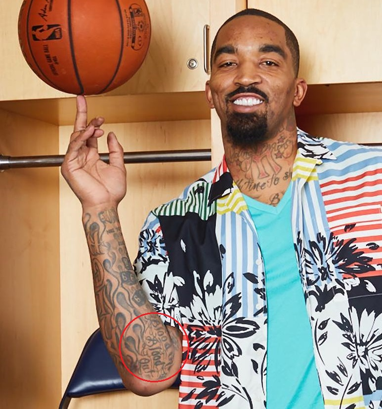 J.R. Smith Right Arm Quote Tattoo