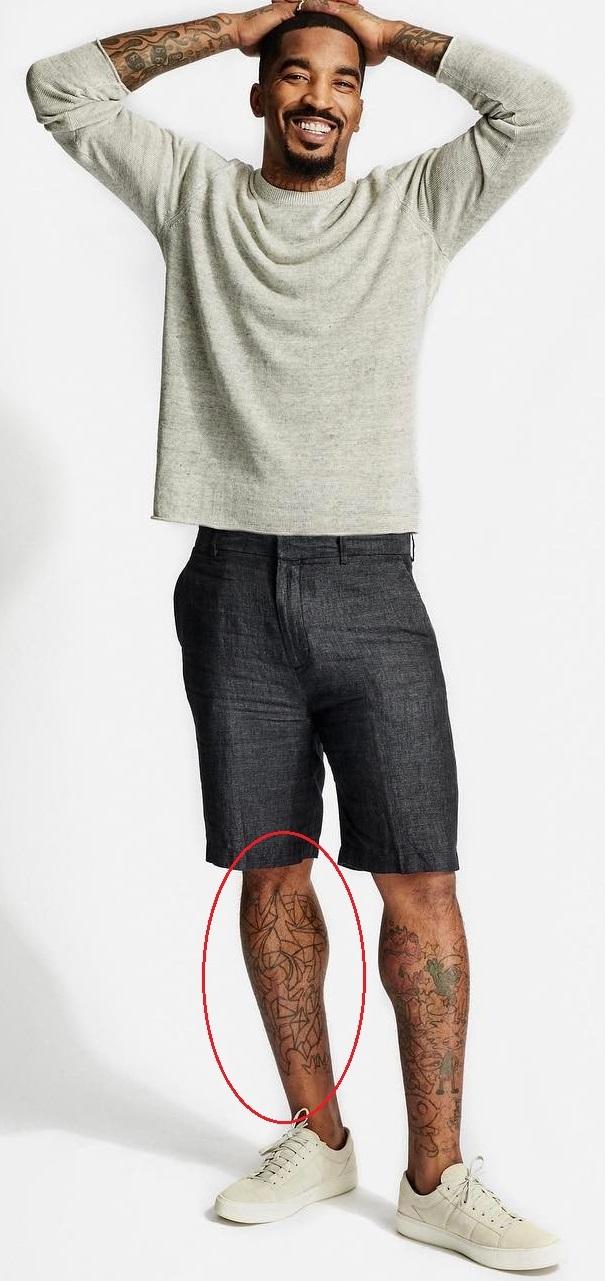 J.R. Smith Right Leg Tattoo