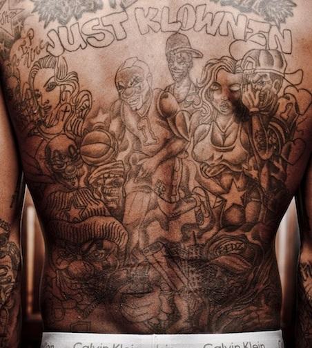 JR Smith Just Klownin Tattoo