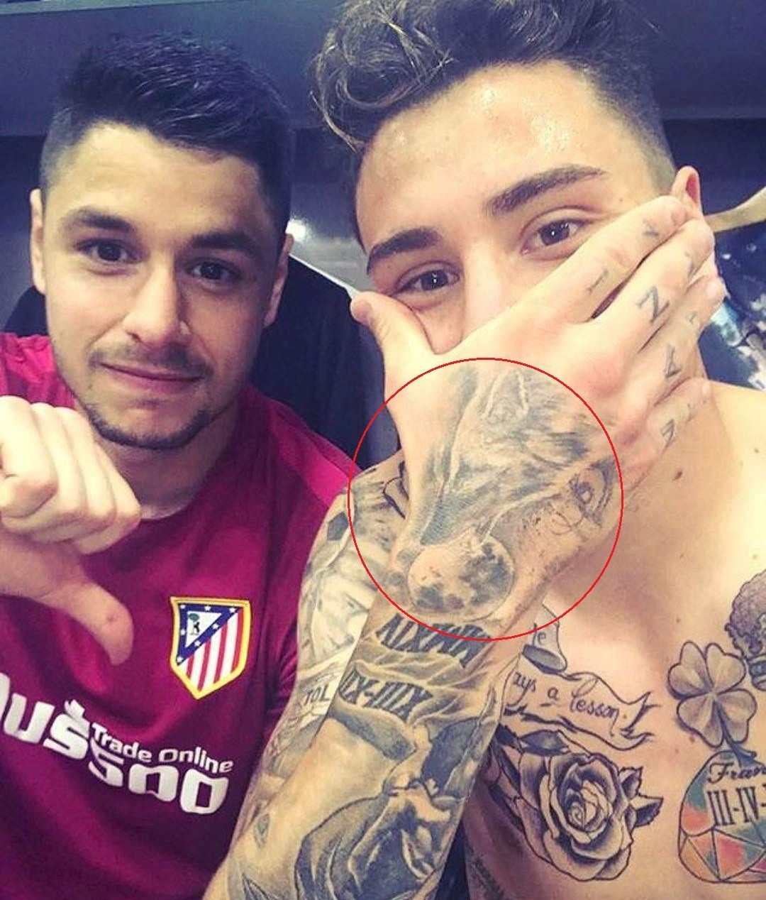 Jose Gimenez Right Hand Tattoo