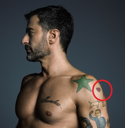 Marc Jacobs Red Heart Tattoo