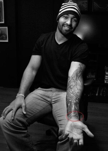 Matt Kemp Left inside Arm Tattoo 071