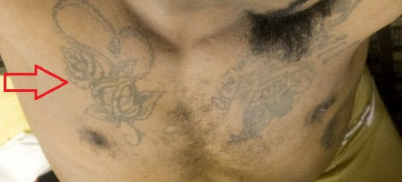 Navarro Bowman Chest Tattoo