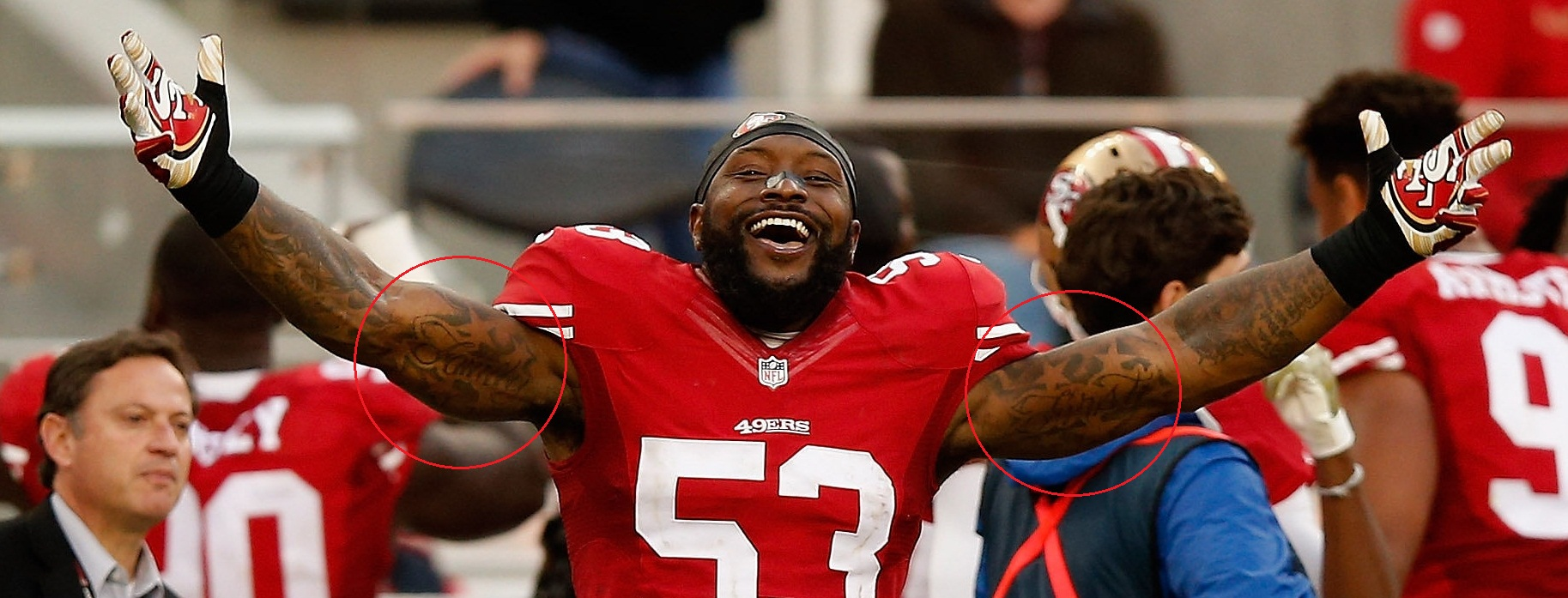 Navarro Bowman Family First Tattoo