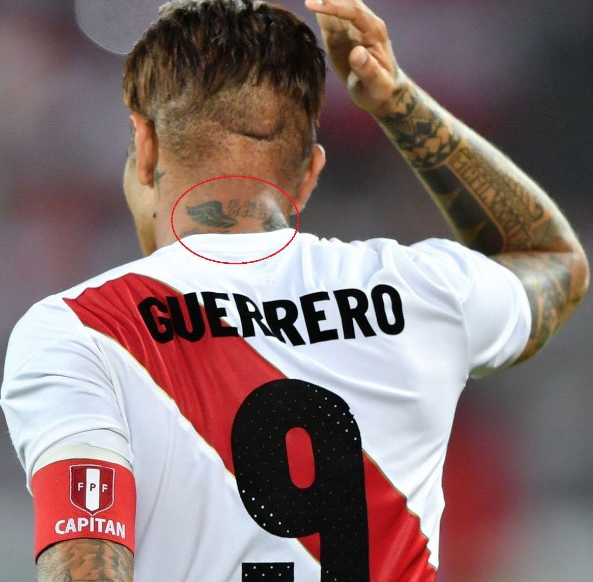 Paolo Guerrero Back Neck Tattoo