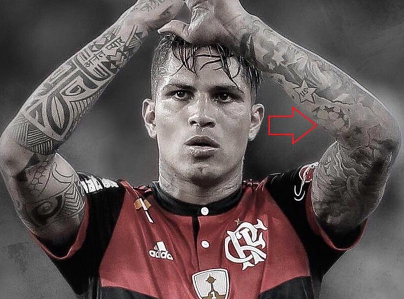 Paolo Guerrero Left Arm Football Tattoo