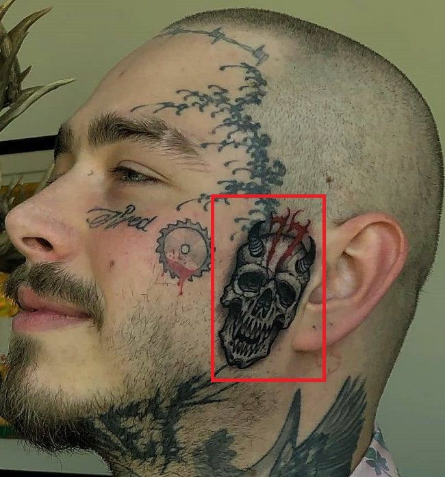 Post Malone-Face-Tattoo
