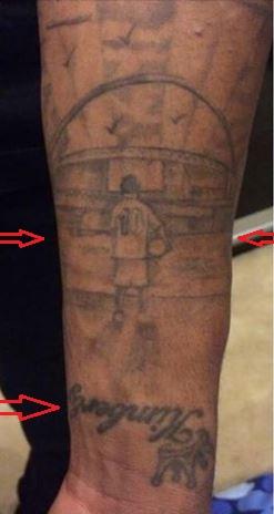 Raheem Sterling boy kimberly tattoo