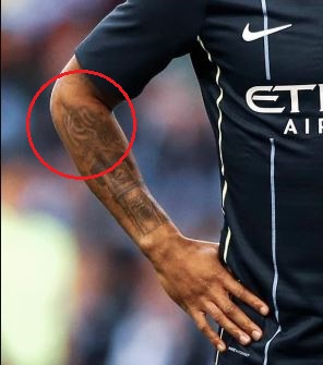 Raheem Sterling kgn tattoo