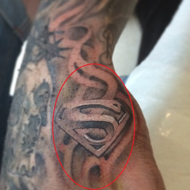 Stephen Ireland Right Hand Superman Tattoo