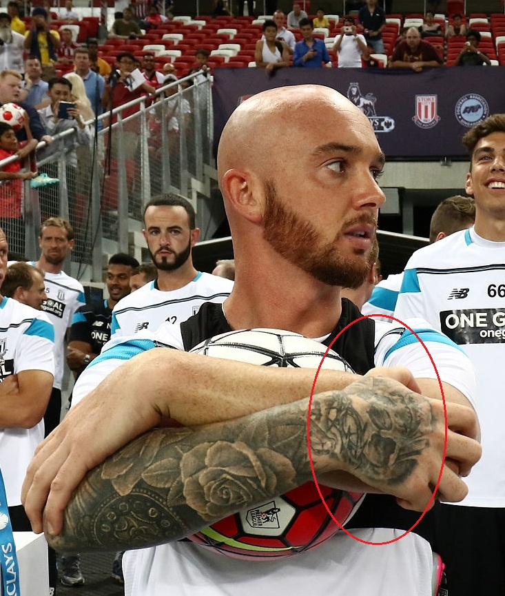 Stephen Ireland Right Hand Tattoo