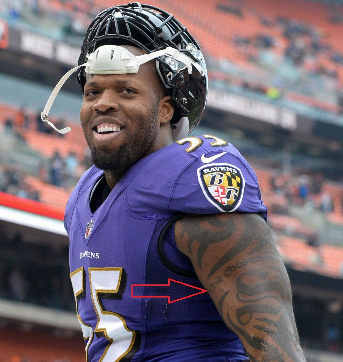 Terrell Suggs Left Arm The Chosen One Tattoo