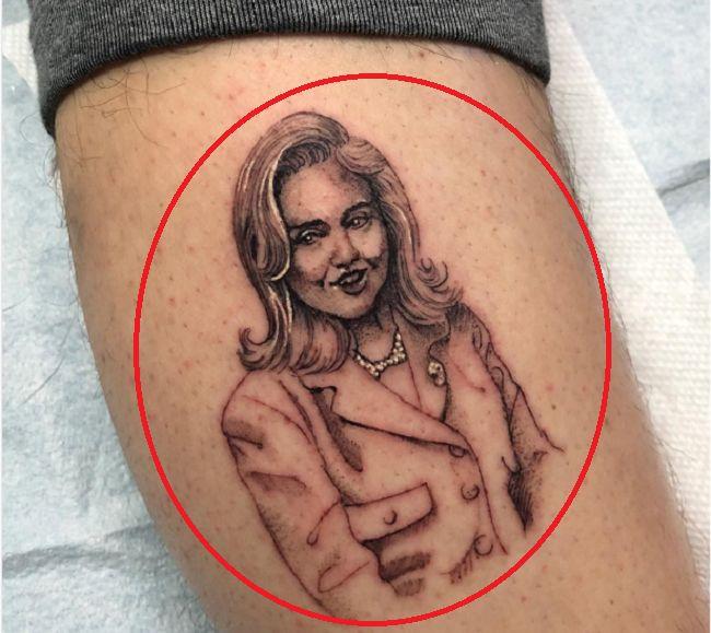 pete davidson-Hillary Clinton tattoo