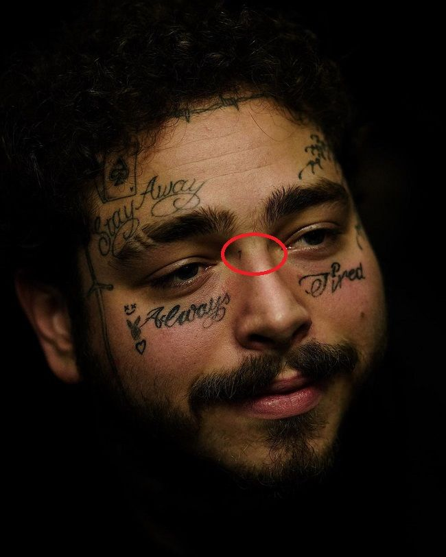 post malone-71 tattoo