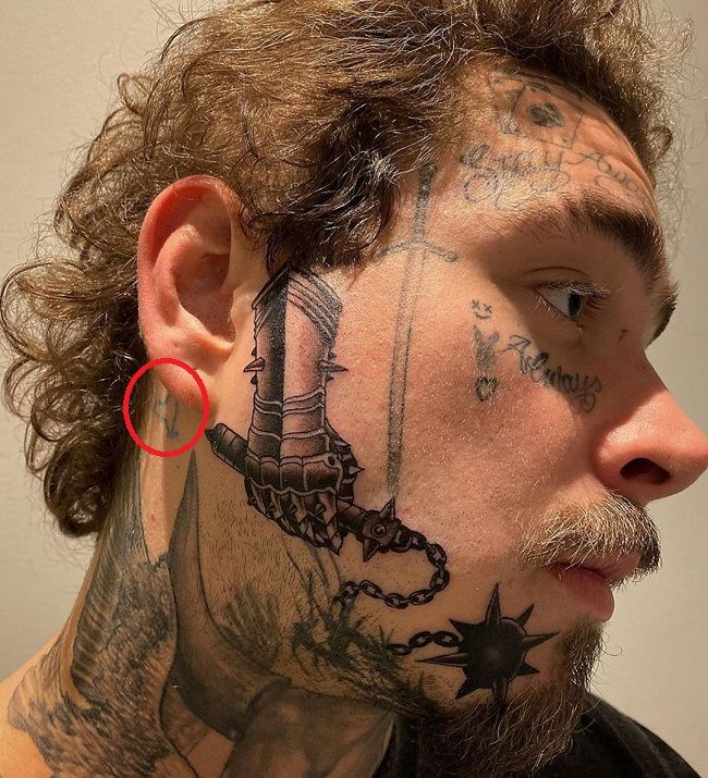 post malone-unidentified tattoo