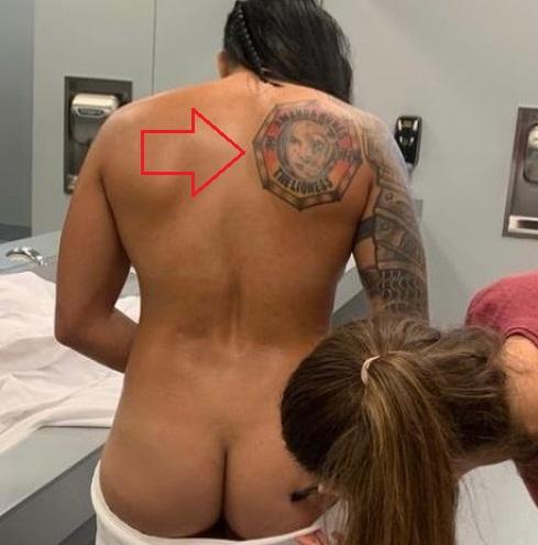 Amanda Nunes Back Tattoo