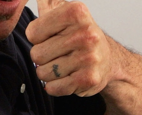 Bas Rutten Left Hand Knuckle Tattoo 1