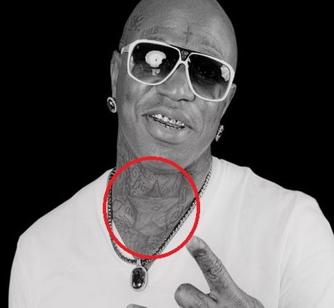 Birdman Star on the Neck Tattoo
