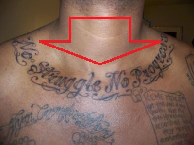 Carmelo Anthony No Struggle No Progress Tattoo