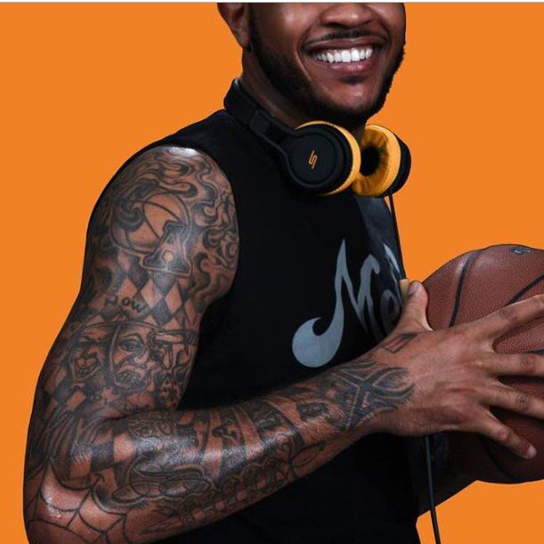 Carmelo Anthony Right Arm Inks