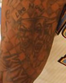 Carmelo Comedy and Tragedy Masks Tattoo