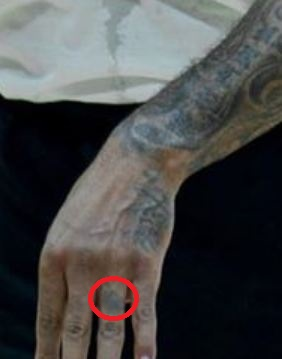 Carmelo Finger Tattoo