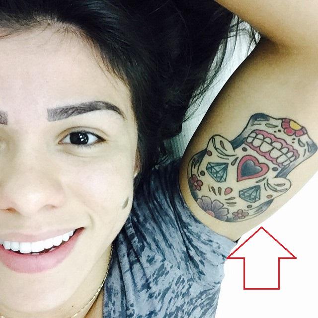 Claudia Gadelha Left Arm Inside Tattoo