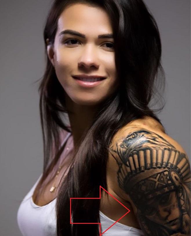 Claudia Gadelha Left Shoulder Egyption Warrior Tattoo