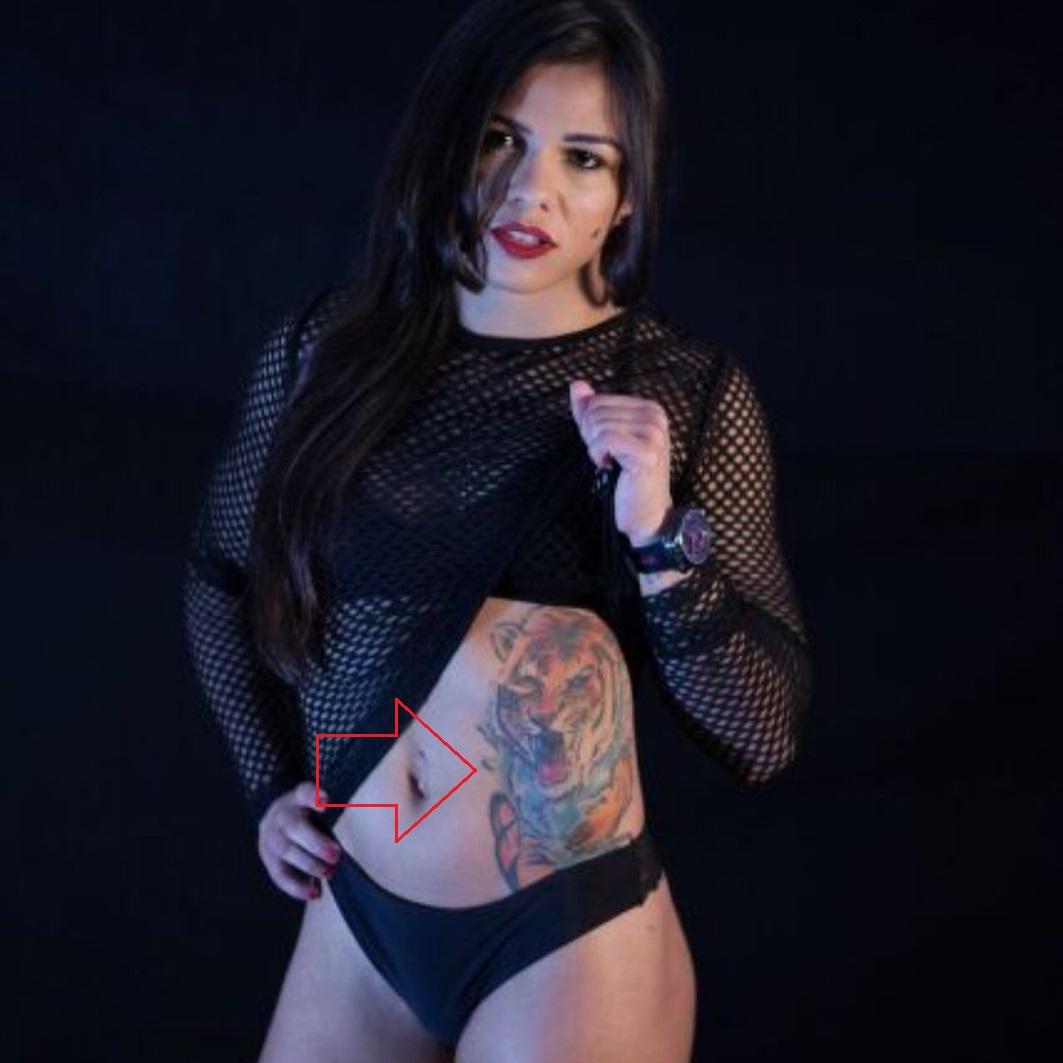 Claudia Gadelha Left Side Tigeress Tattoo