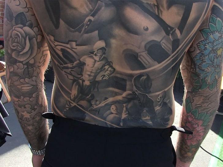 Cody Garbrandt Back Tattoo