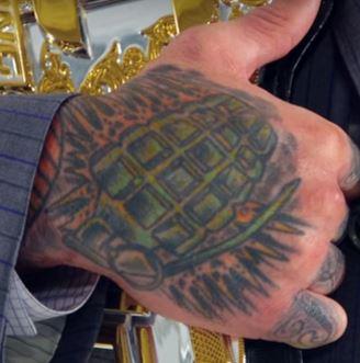 Cody Garbrandt Grenade Tattoo