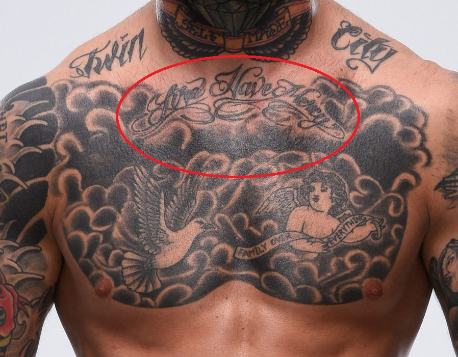 Cody Garbrandt Lord Have Mercy Tattoo