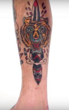 Cody Garbrandt Tribal Tiger Tattoo