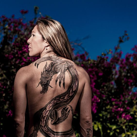 CrisCybrog Back Tattoo