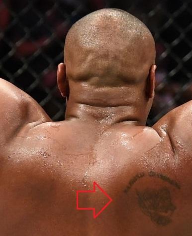 Daniel Cormier Right Side Back Tattoo
