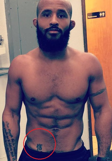 Demetrious Johnson Stomach Tattoo