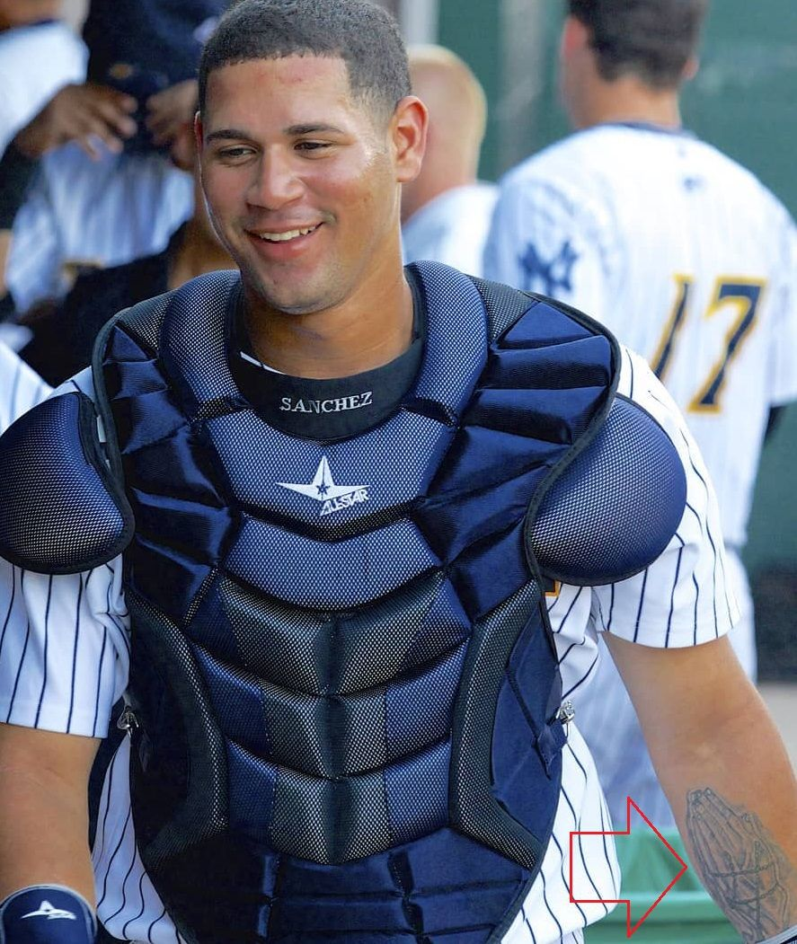Gary Sanchez Left Arm Inside Holding Hands Tattoo