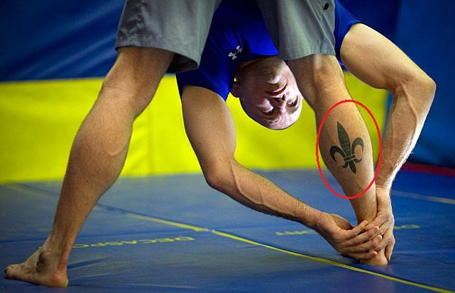 Georges St-Pierre Right Leg Tattoo