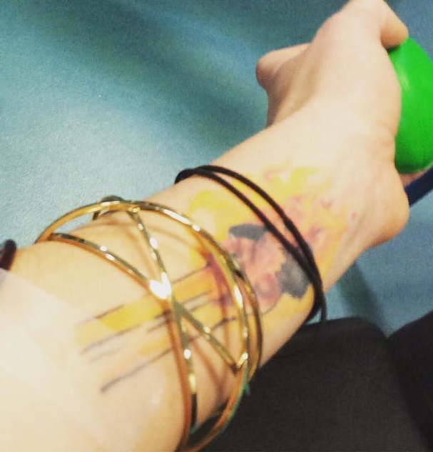 Joanne Calderwood Left Arm Inside Tattoo