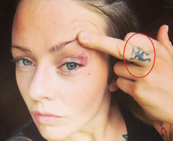 Joanne Calderwood Left Hand Symbol Tattoo