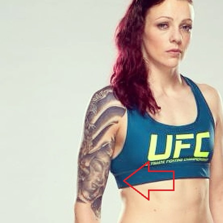 Joanne Calderwood Right Arm Budha Tattoo